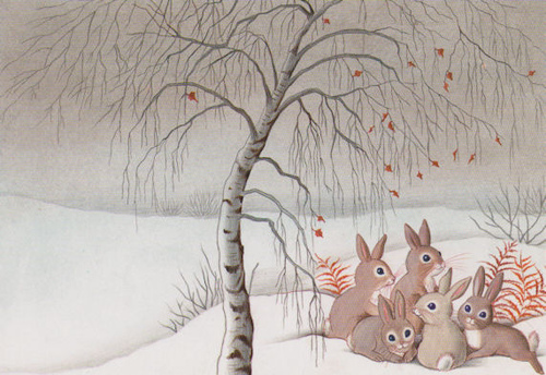 Rabbits in Winter by floquilter on Flickr.