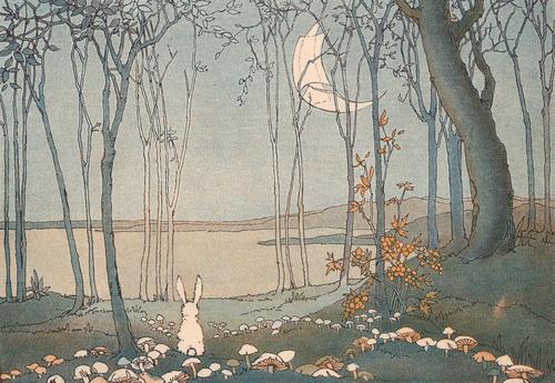 Illustration by Shirley Kite, 1927 for The New Moon; Virginia Baker, G.A. Grant-Schaefer.