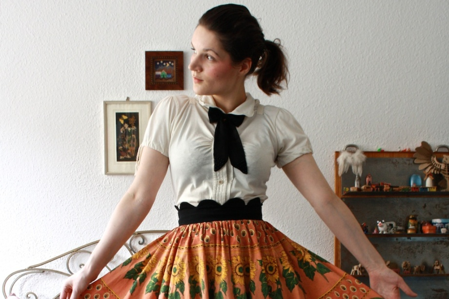 Sonnenblume-Rock // Sunflower skirt