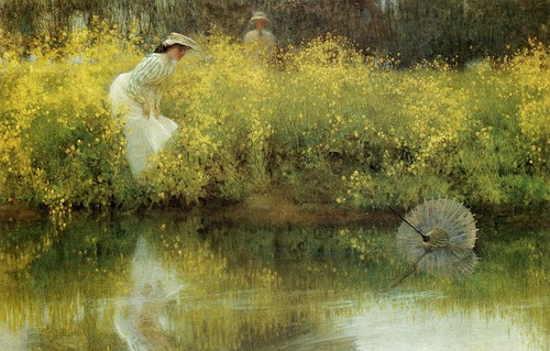 "arsvitaest-""Lost Parasol"" Author- Arthur Hacker (English, 1858-1919)"
