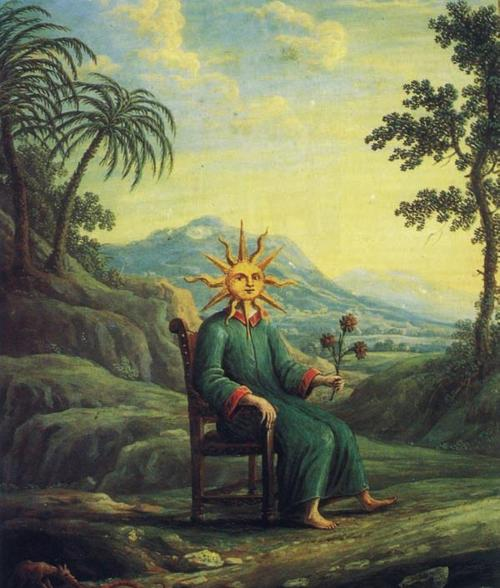 The alchemist who has achieved illumination.from Andrea de Pascalis, Alchemy- The Golden Art