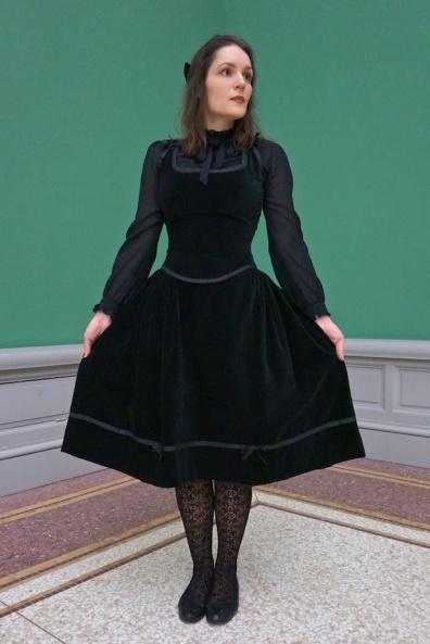 Velvet corsage