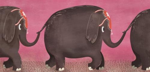 Elephant parade by Isabel Reyes Feeney